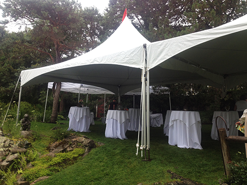 tent, cocktail table and linen rental in Marblehead, MA