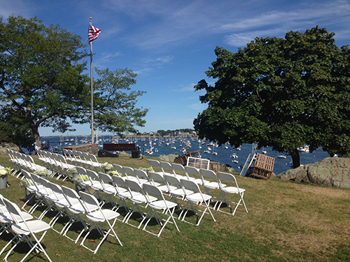 Wedding Ceremony Chair Rental, Crocker Park, Marblehead MA