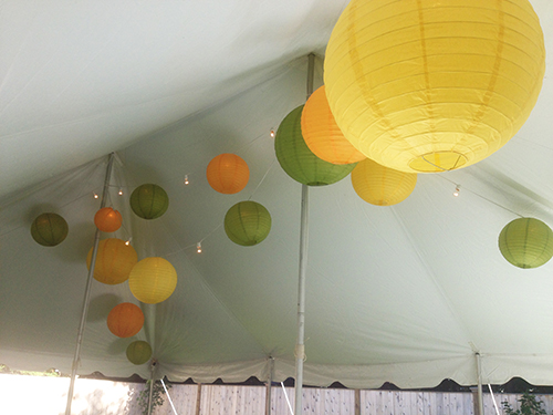 Tent and lantern rental wedding Marblehead Inn, MA