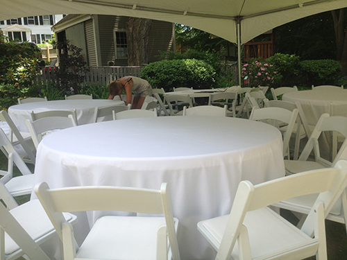 tent table chair and linen rental Beverly, MA