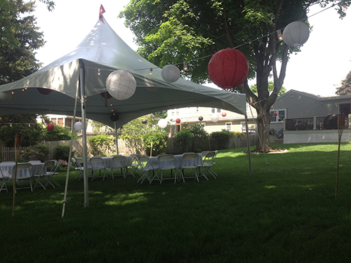 Graduation Party Tent Rental, Marblehead, MA