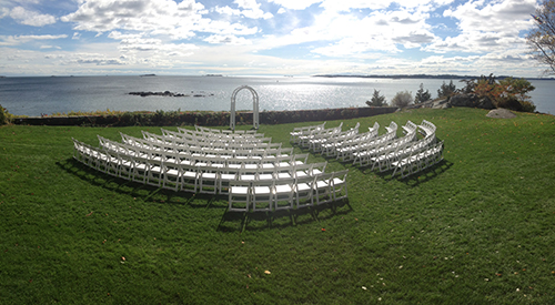 Wedding ceremony chair and arch rental, Beverly, MA