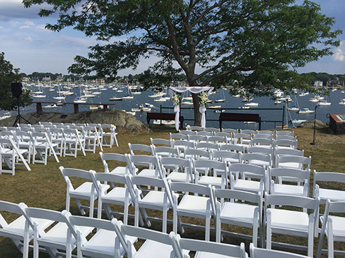 Wedding chair rental, Marblehead, MA