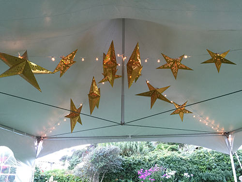 tent lighting decoration