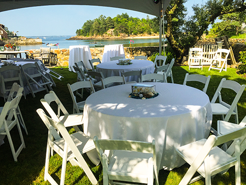 Party tent rentals, Marblehead, MA