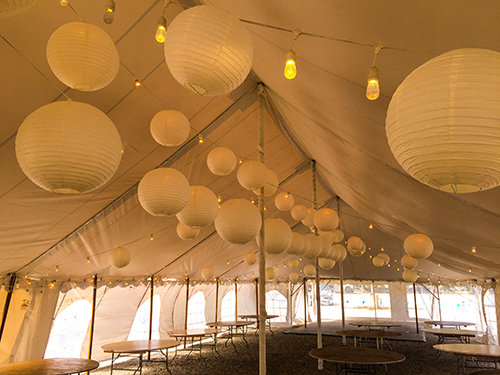 Wedding tent lighting rental, Quincy, MA
