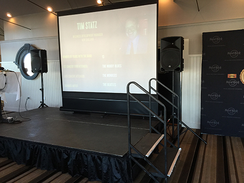 stage and projector screen rental in Quincy MA