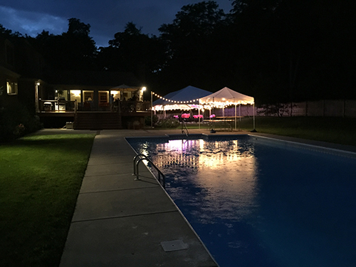 Garden lighting rental