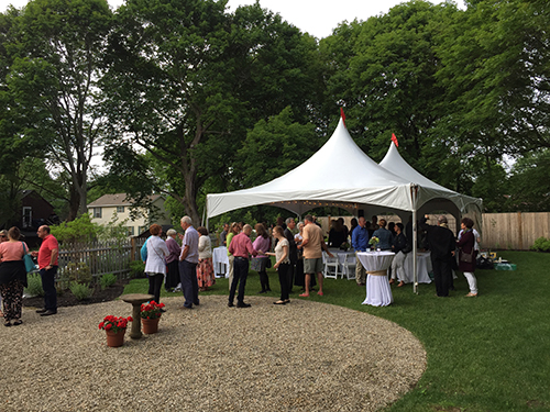 Garden party tent rental Marblehead Inn