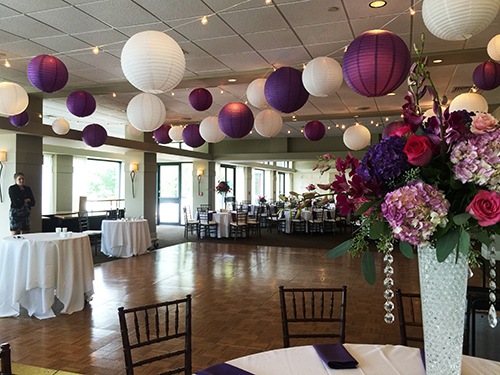 wedding decoration rental Ipswich country club