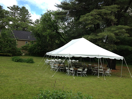 Engagement party tent table and chair rental, Hamilton , MA.