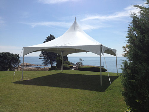 Wedding ceremony tent and chair rental, Chandler Hovey park, Marblehead, MA