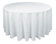 full length round tablecloth
